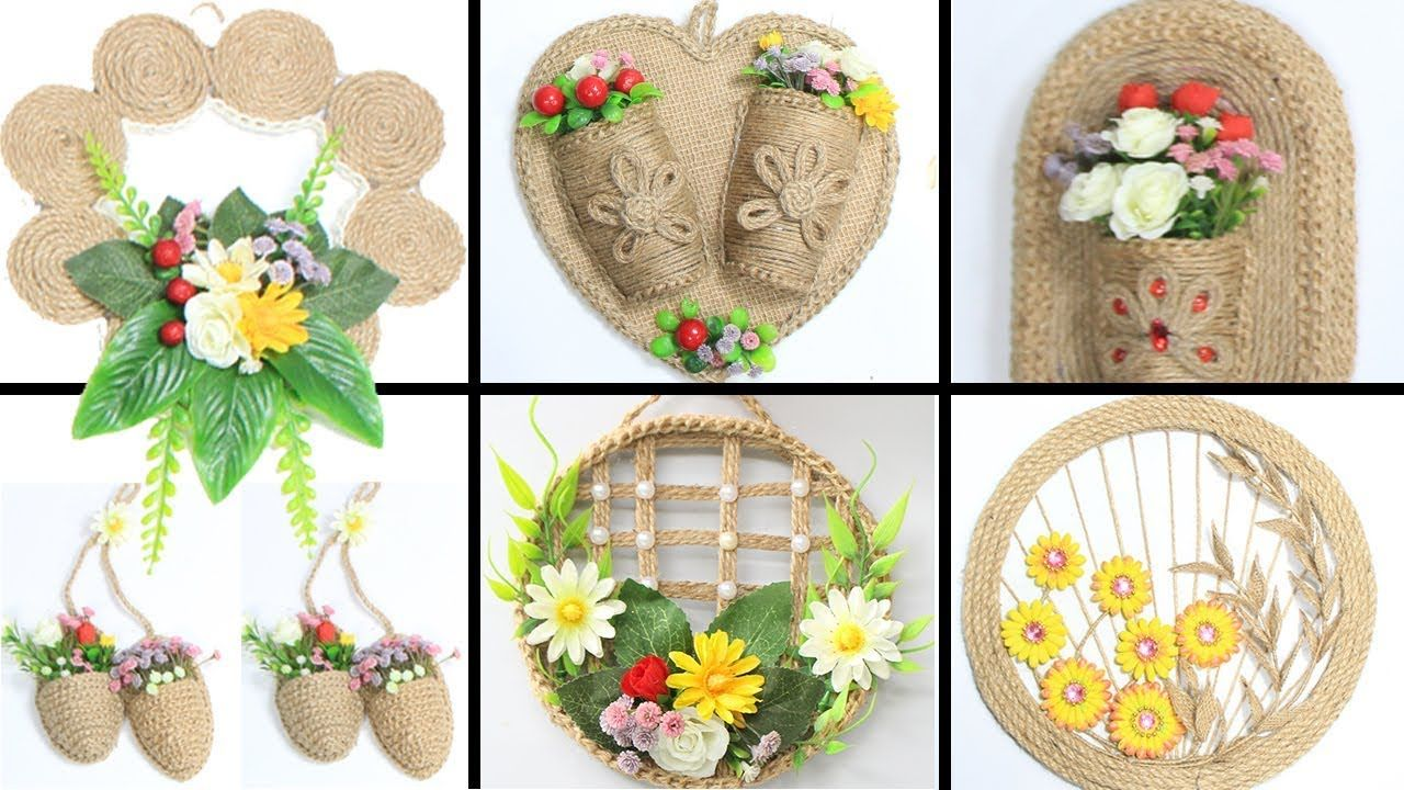 6 Jute Wall Hanging Craft Ideas Home Decorating Ideas Handmade Youtube Jute Crafts Wall Hanging Crafts Crafts
