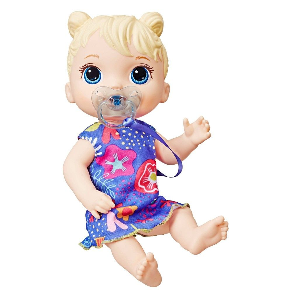 Baby Alive Baby Lil Sounds Interactive Baby Doll Blue Dress In 2020 Interactive Baby Dolls Interactive Baby Baby Dolls