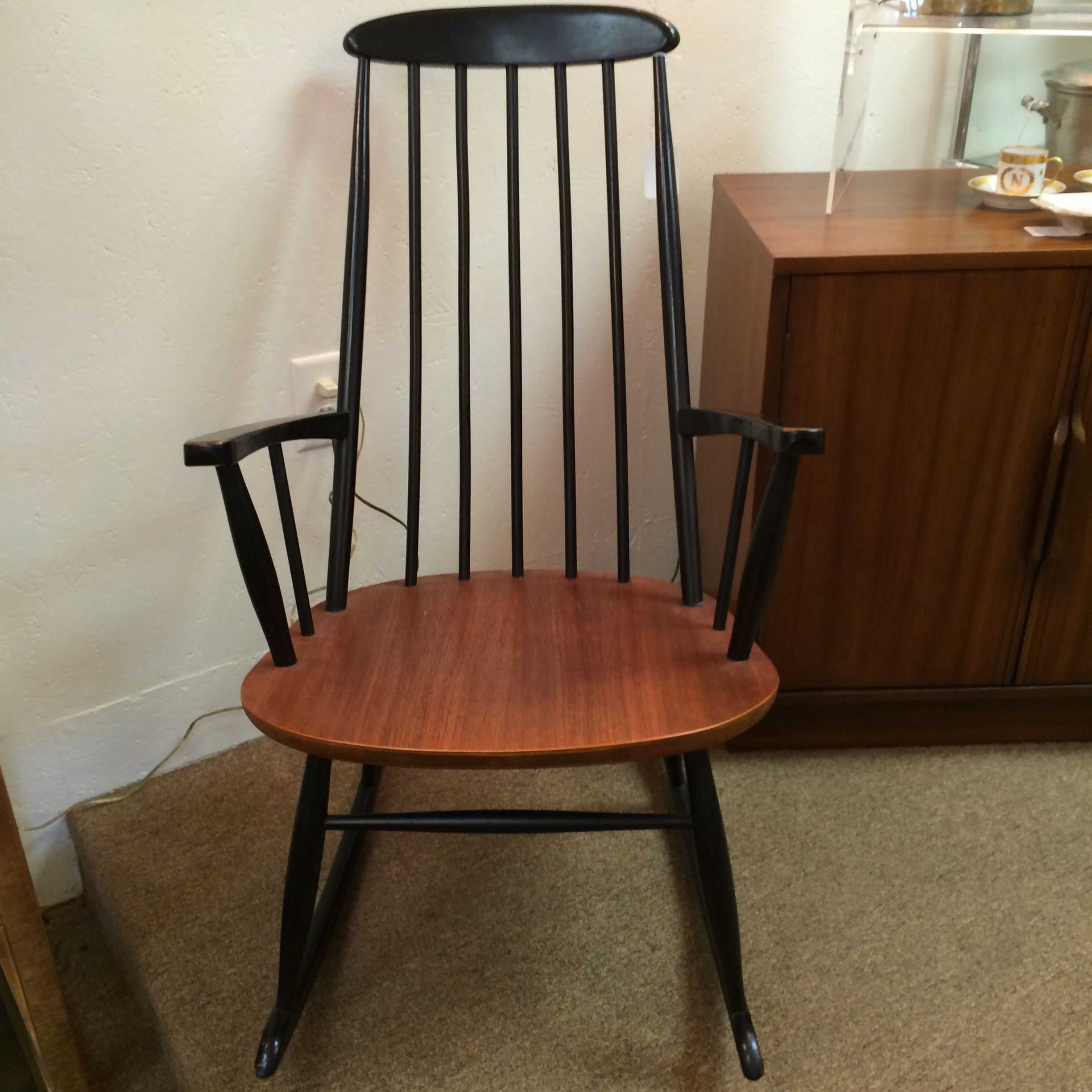 Super Mid Century Modern Rocking Chair Made In Yugoslavia Danish Ocoug Best Dining Table And Chair Ideas Images Ocougorg