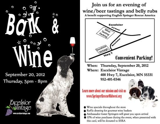 Bark Wine Fundraiser Idea Dog Rescue Fundraising Animal Fundraising Animal Rescue Ideas