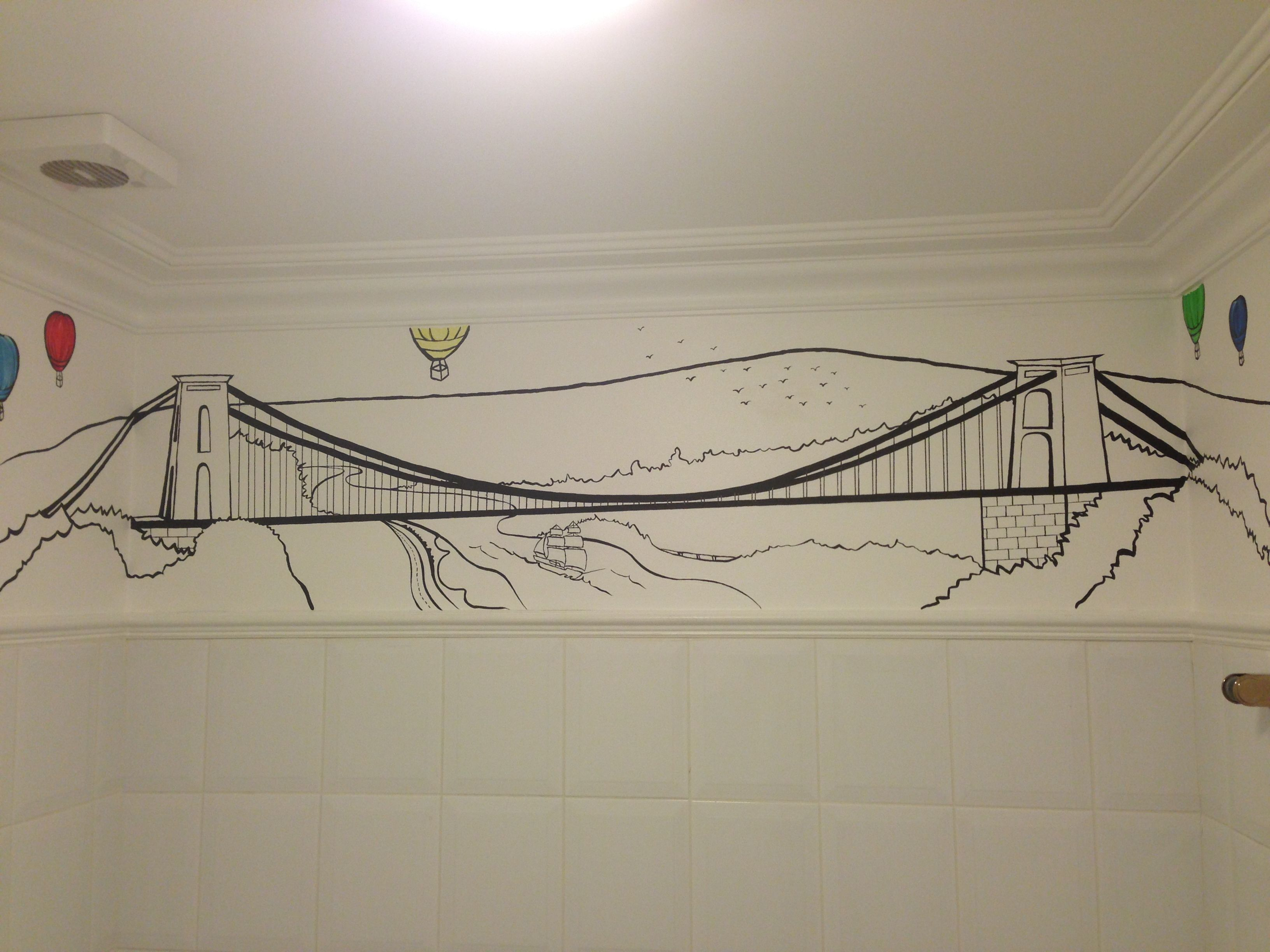Wall Art Clifton Suspension Bridge Painting Diy Crafts