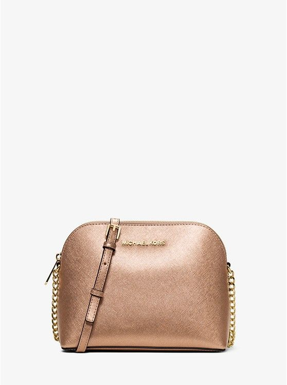 7026222ffbd2 Cindy Large Metallic Leather Crossbody preview0. Cindy Large Metallic  Leather Crossbody preview0 Michael Kors ...