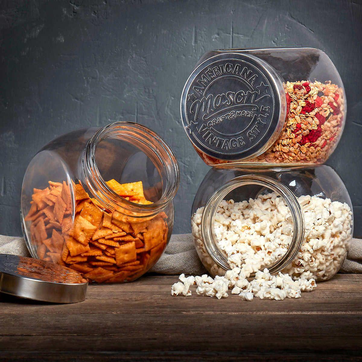Mason crafts more tilted glass jars 3pack set in 2020