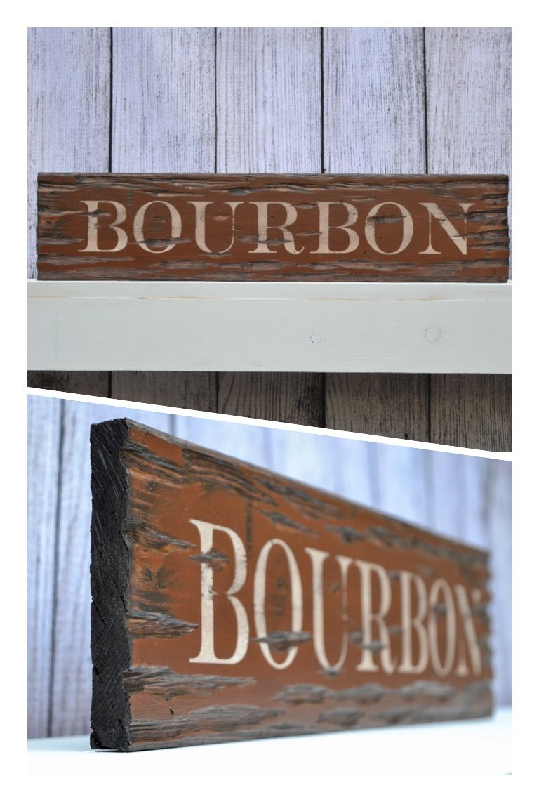 Bourbon 24 Distressed Rustic Wood Sign Home Design Wall Decor Wall Art Barn Wood Signs Wood Signs Sayings Wo Rustic Wood Signs Wood Signs Barn Wood Signs