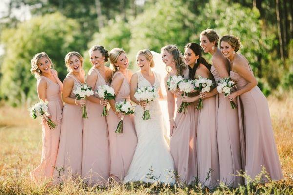 Romantic Florida Ballroom Wedding Elizabeth Anne Designs The Wedding Blog Mauve Bridesmaid Mauve Bridesmaid Dress Rose Bridesmaid Dresses
