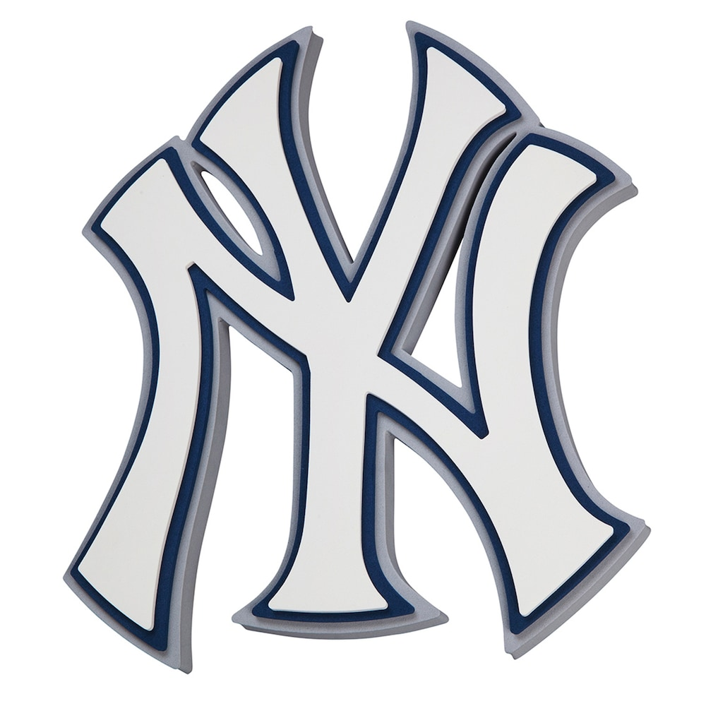 New York Yankees 3d Fan Foam Logo Sign Yankees Logo New York Yankees Logo New York Yankees