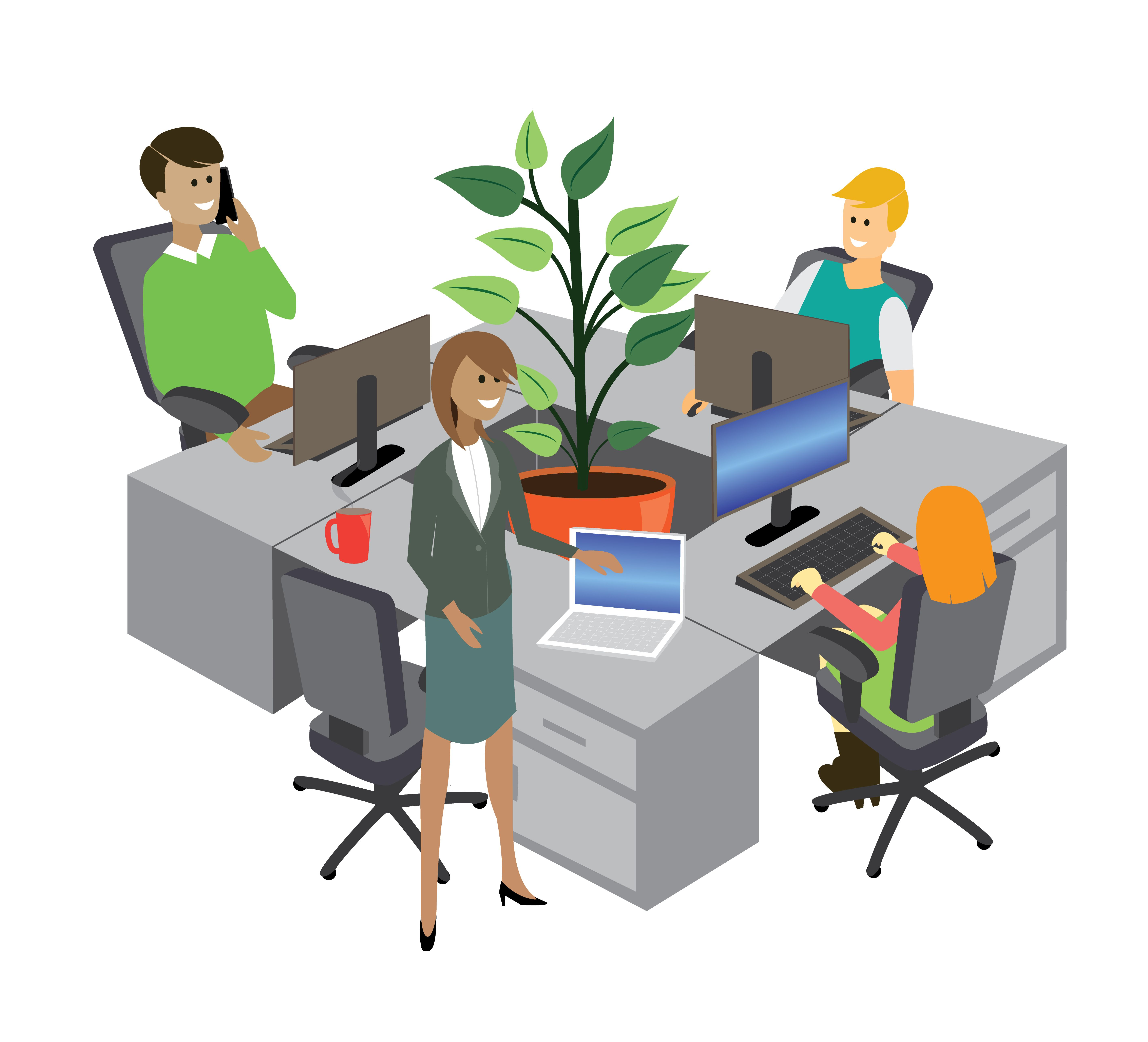 Image Of Office Environment Corporate Surroundings Happy