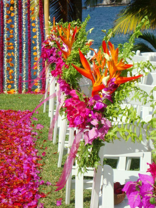Stunning Bold Pink And Orange Theme Wedding Stcia Caribbean Www