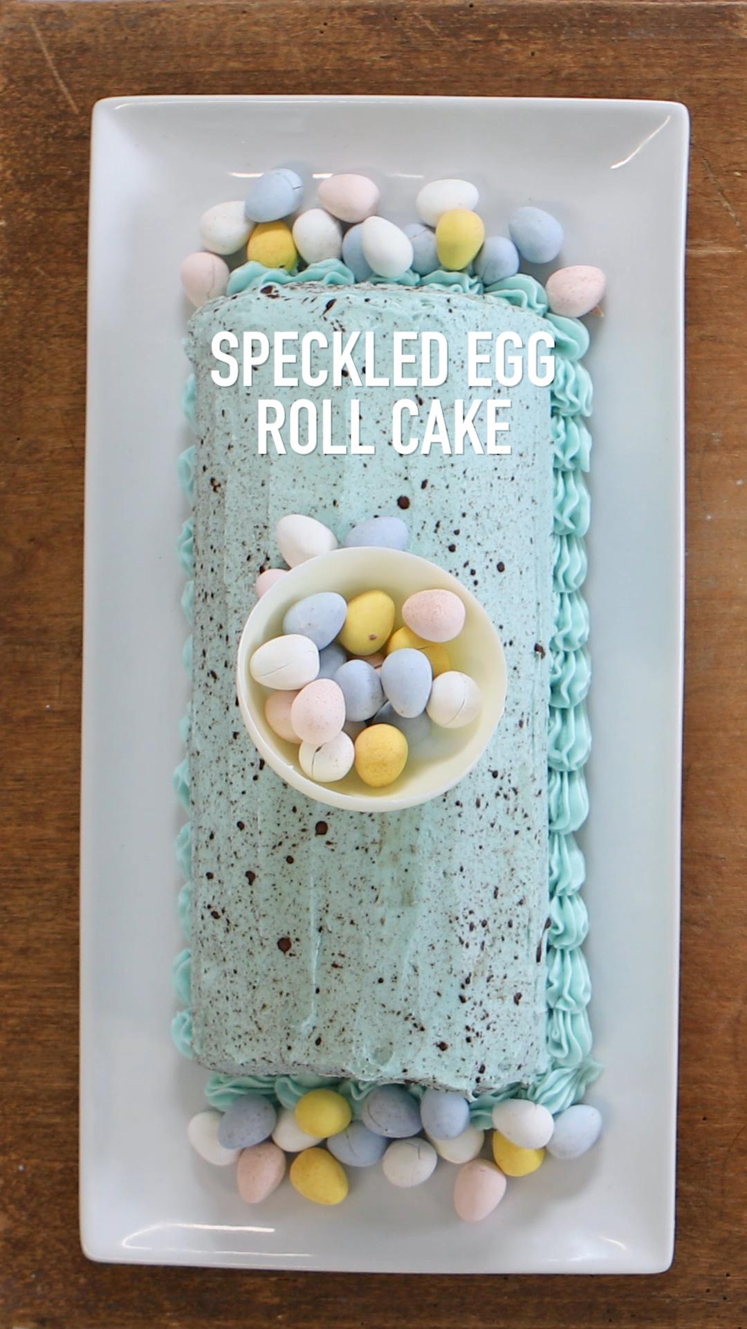 Speckled Egg Roll Cake