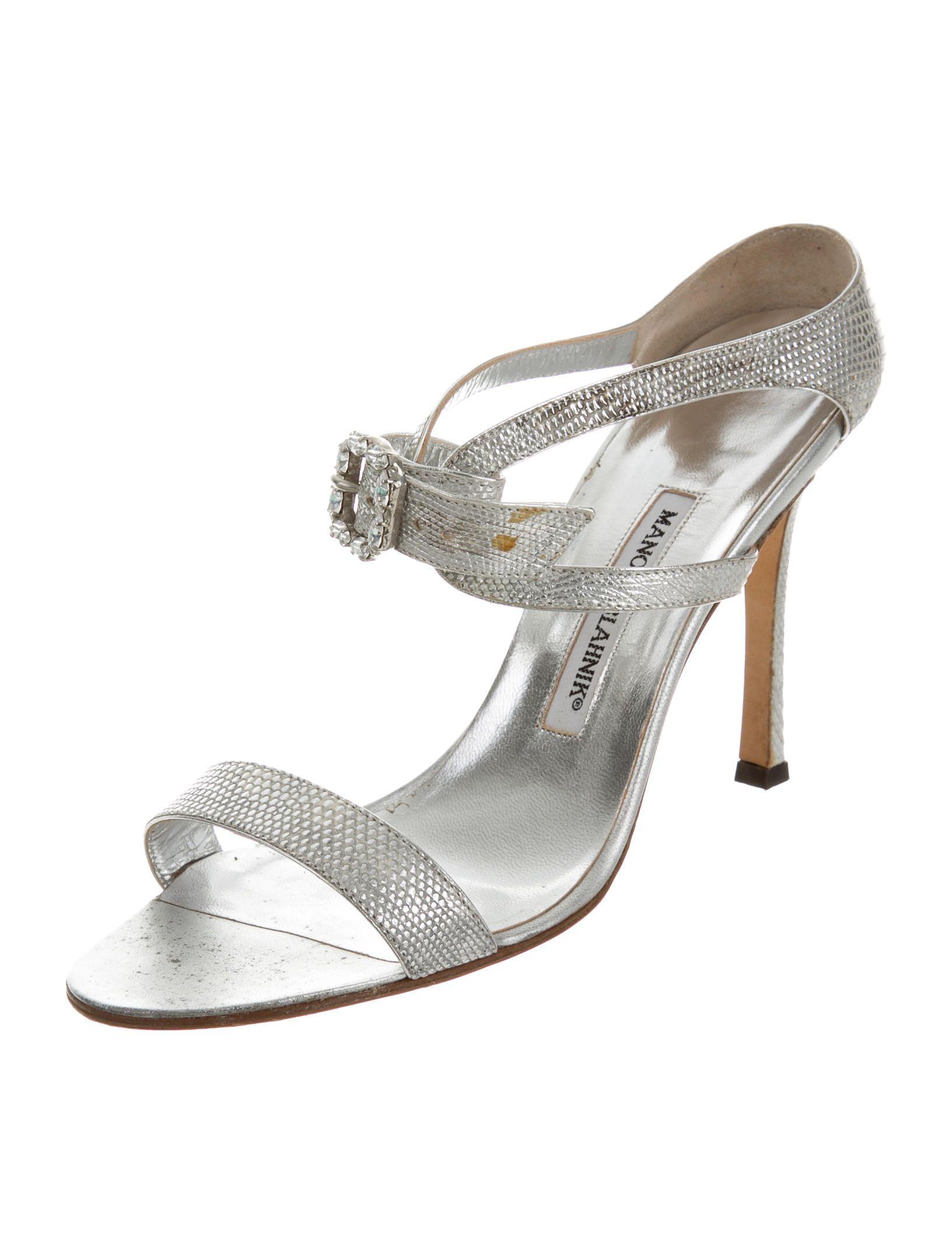4182fe4b6e6 Manolo Blahnik Jewel Lizard Sandals - Shoes - MOO51180