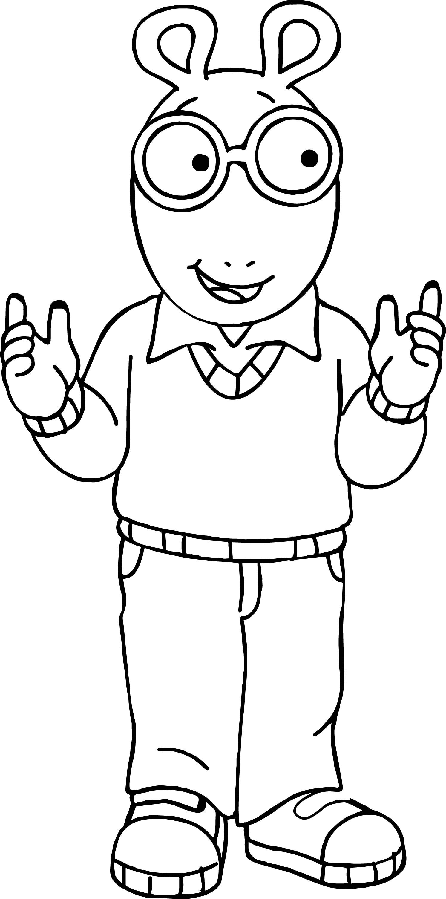 Cool Arthur Friend Coloring Page Coloring Pages Boy Coloring Coloring Pages For Kids