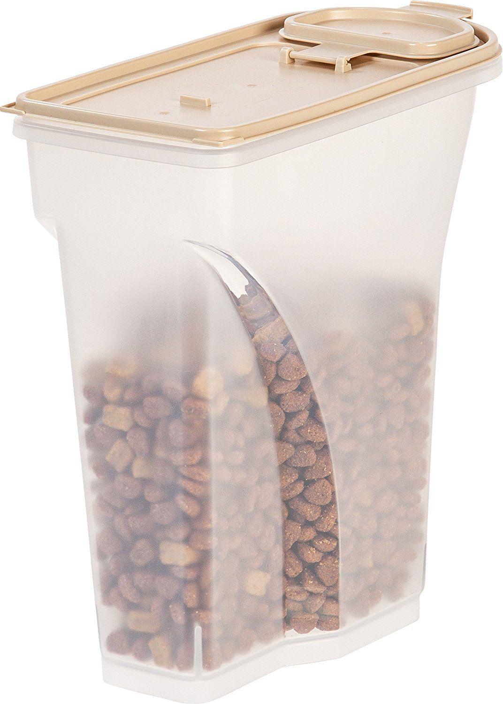 IRIS Premium Airtight Pet Food Storage Container, 8 Quart, Almond    Check
