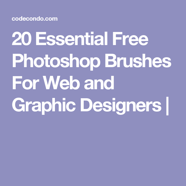 20 Essential Free Photoshop Brushes For Web and Graphic Designers |