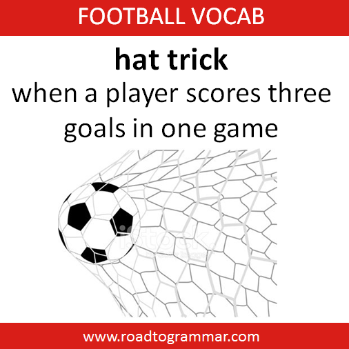 Football Soccer Vocab Hat Trick English Vocabulary Words Learn English Words English Words