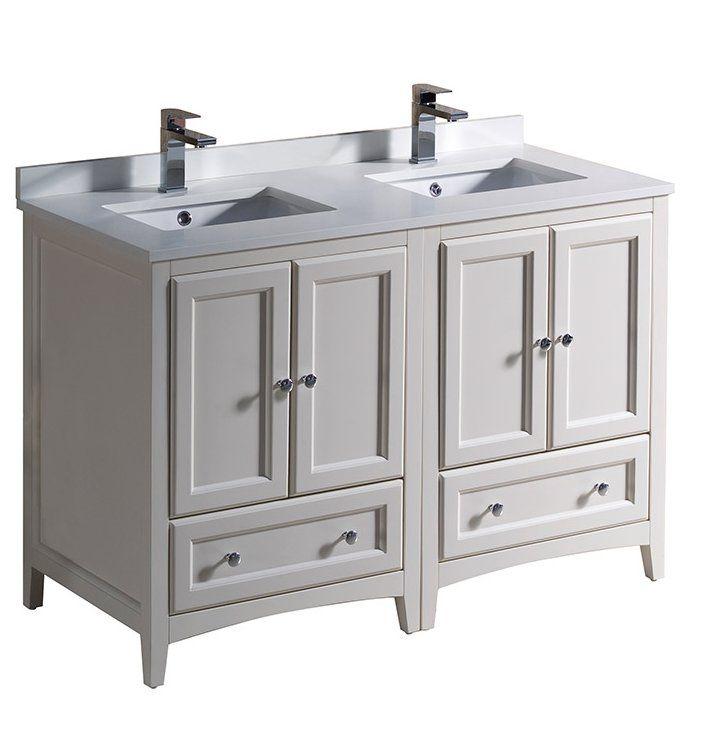 Oxford 48 Double Bathroom Vanity Set Traditional Bathroom