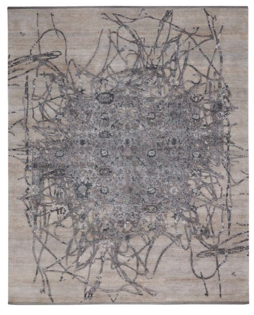 Bidjar Muted 2 rug in chrome by JAN KATH (NYC)