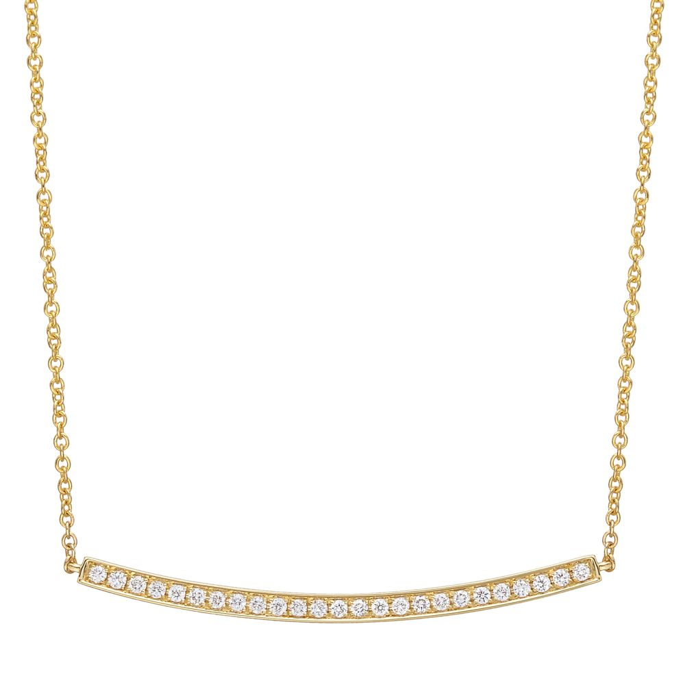 Betteridge Collection 18k Gold Pavé Diamond Bar Pendant