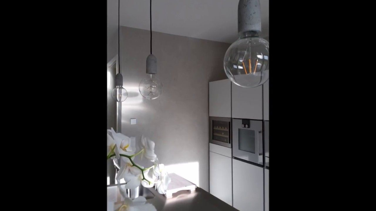 raumgestaltung lippstadt, wand in beton optik (betonlook) küchenwand
