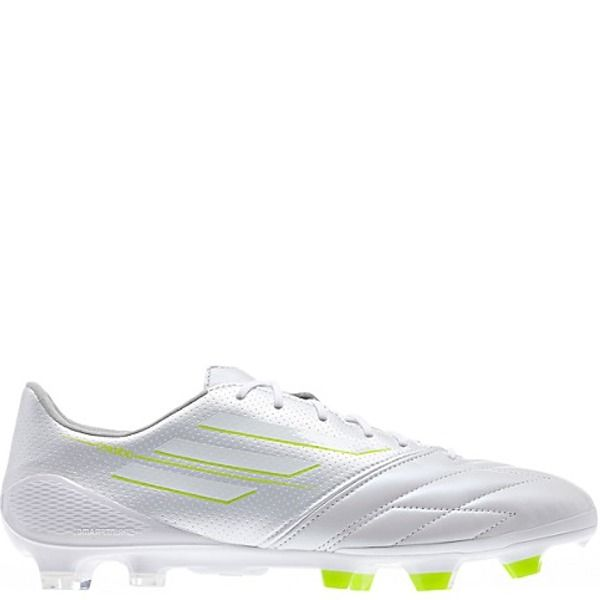 3004f0044 adidas F50 Adizero TRX FG Running White Running White Leather Firm Ground  Soccer Cleats -