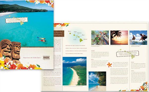 Hawaii Travel Vacation Brochure Template  Layouts  Brochures