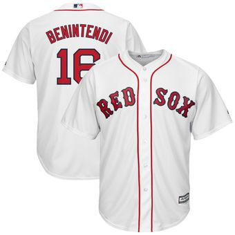 a4f32a1b5ba Andrew Benintendi Boston Red Sox Majestic Youth Home Official Cool Base  Replica Player Jersey - White