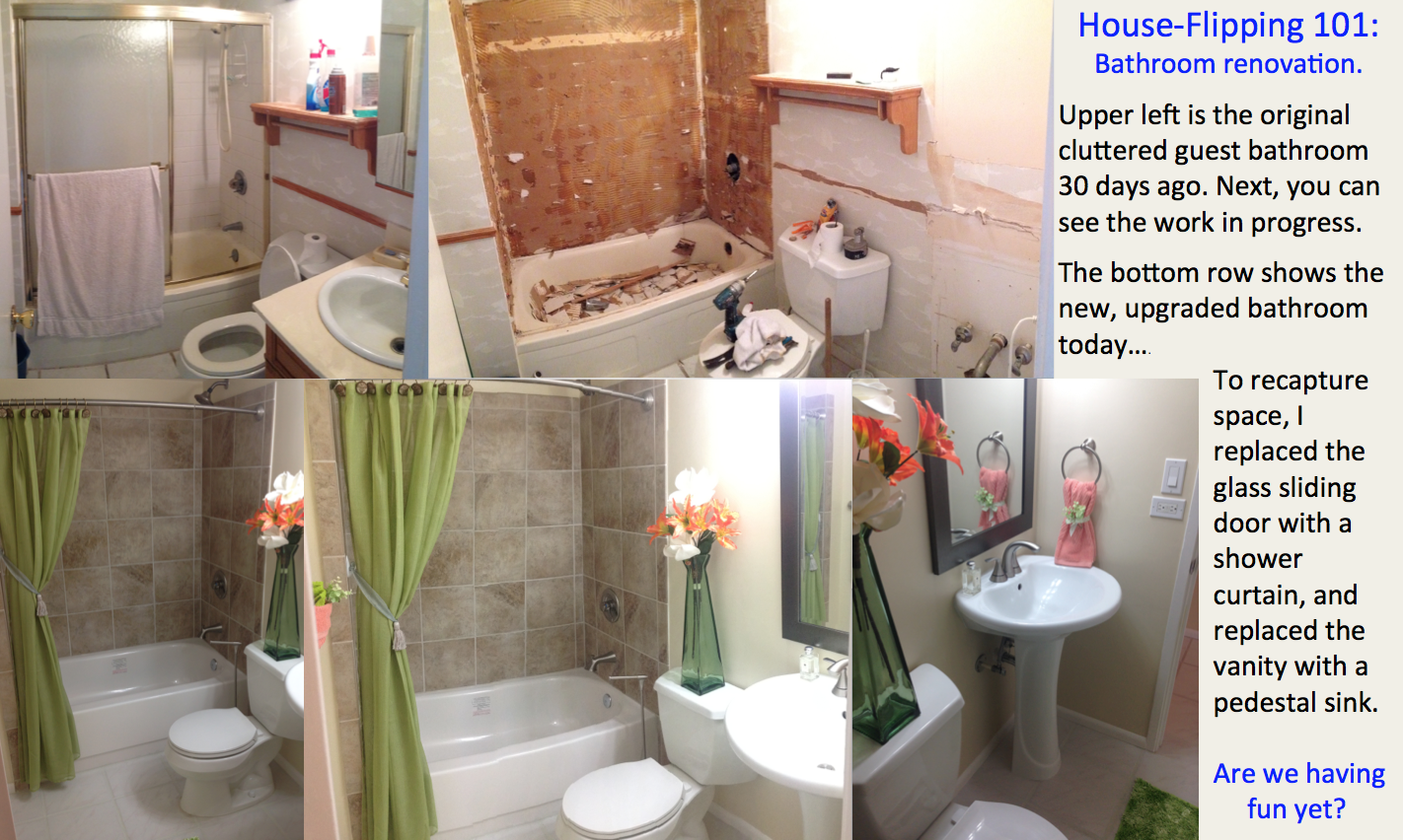 Bathroom Renovation Shows house flipping in hawaii - bathroom renovation. before & after