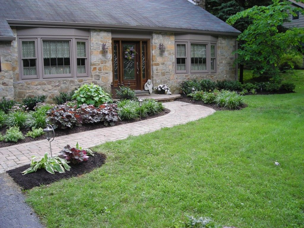 Small garden landscaping design ideas for front yard jpg - Front Walk Landscape Idea Landscape Design Ideas Beautiful Front Yard Gardenslandscaping