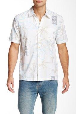 Kalo Beach Floral Print Short Sleeve Shirt
