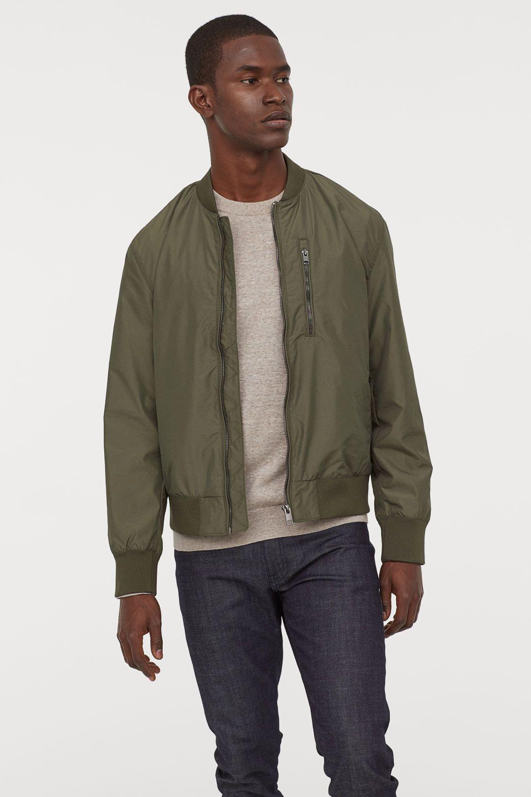 Bomber Jacket Khaki Green Men H M Us Bomber Jacket Vintage Outfits Green Bomber Jacket [ 1620 x 1080 Pixel ]