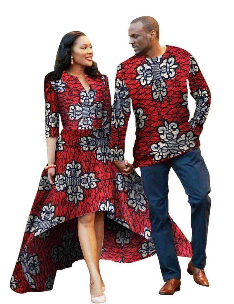 Buy men and women african traditional clothes fashion party dress