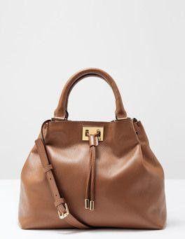 Dark Tan Drawstring Bag Boden   Handbags!   Pinterest   Dark tan ...