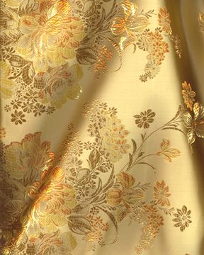 Buythepiece Com 8 99 Fashion Fabric Chinese Brocade Vintage Floral Gold Gold Aesthetic Gold Fabric Brocade Fabric