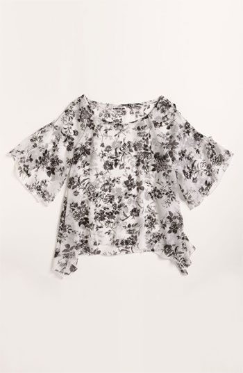 Flowers by Zoe Chiffon Top (Big Girls) | Nordstrom