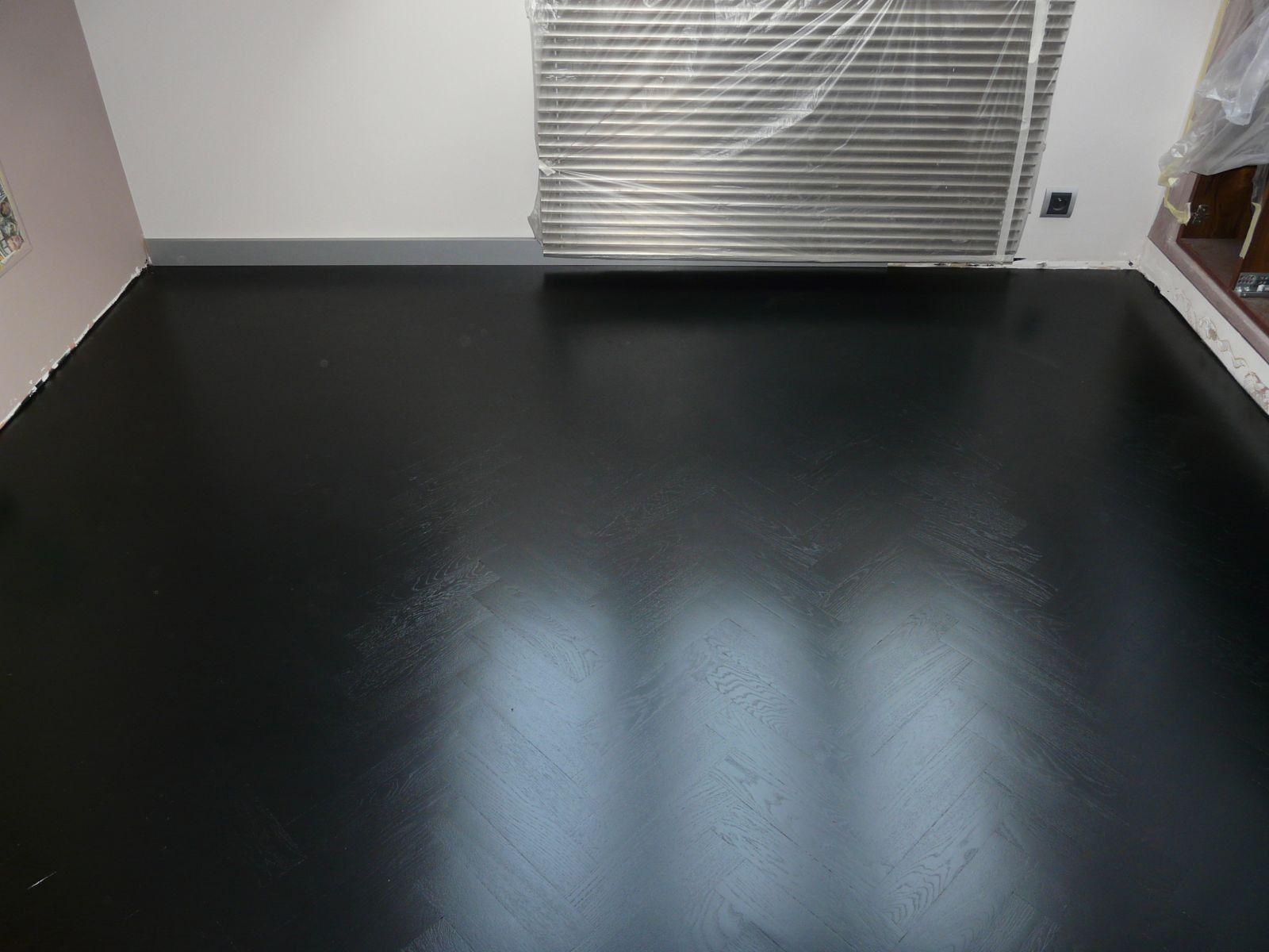 zwart gelakte visgraat vloer home pinterest