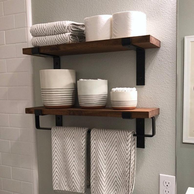 Photo of Hand Towel Bar Minimalist Bathroom Hardware Accessories More | Etsy