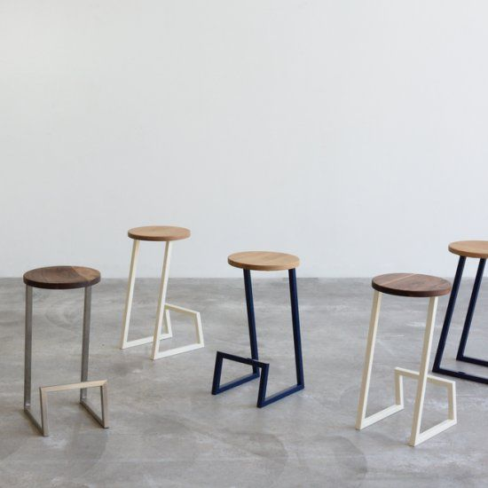 Corktown Is A Minimal Bar Stool With A Base Stand Made From One