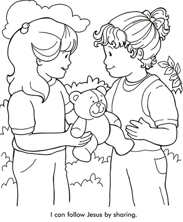 Sharing Coloring Page Bible Coloring Pages Sunday School