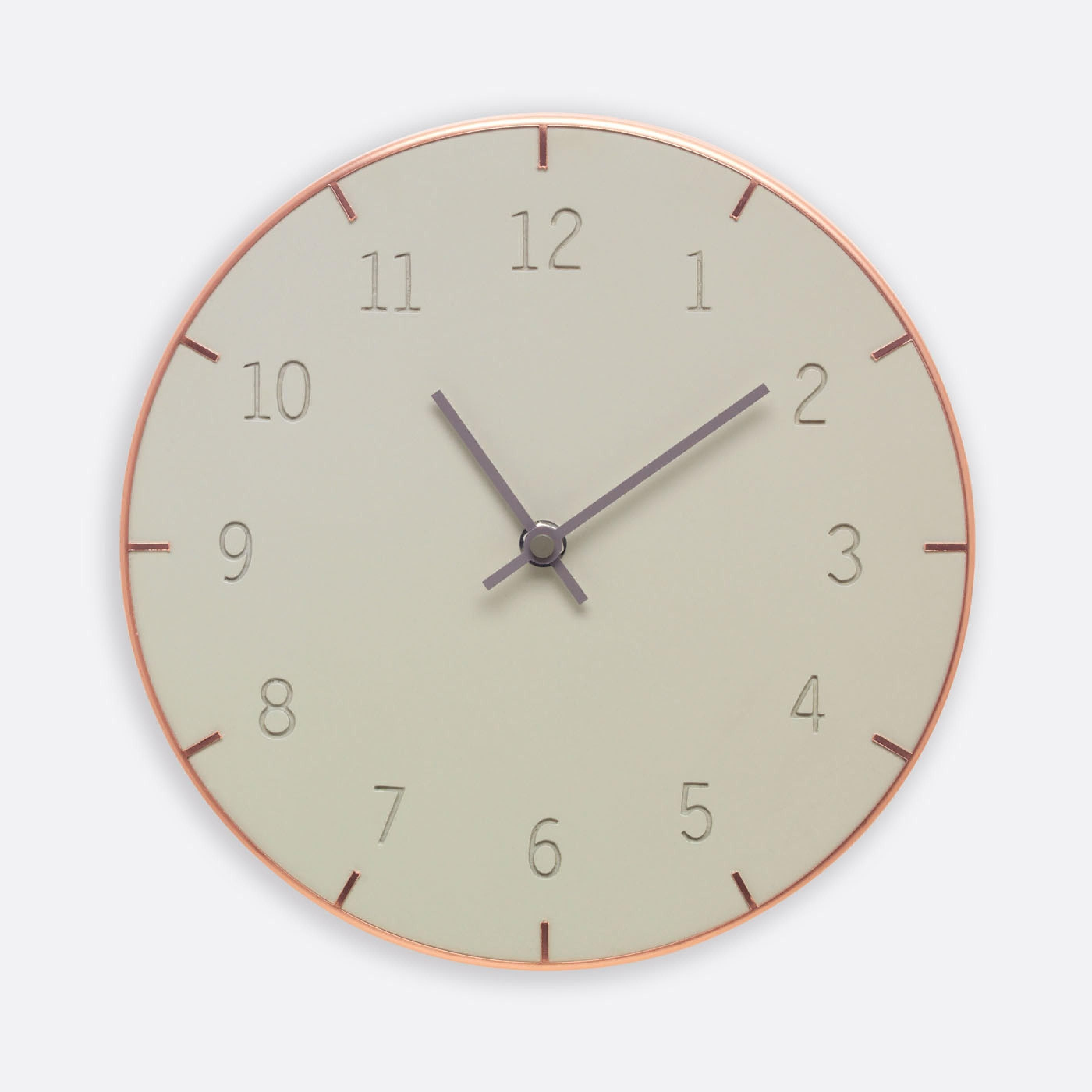 Piatto Concrete Wall Clock Wall Clock Clock Concrete Wall