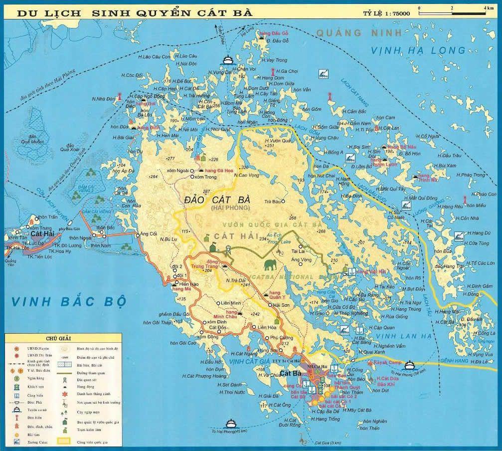 Cat Ba Island Maps Cat Ba Island Location Ca Ba Island Vietnam