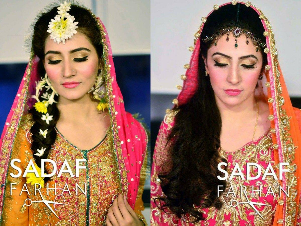 Mehndi Night Makeup : Makeup by sadaf farhan mehndi bridal