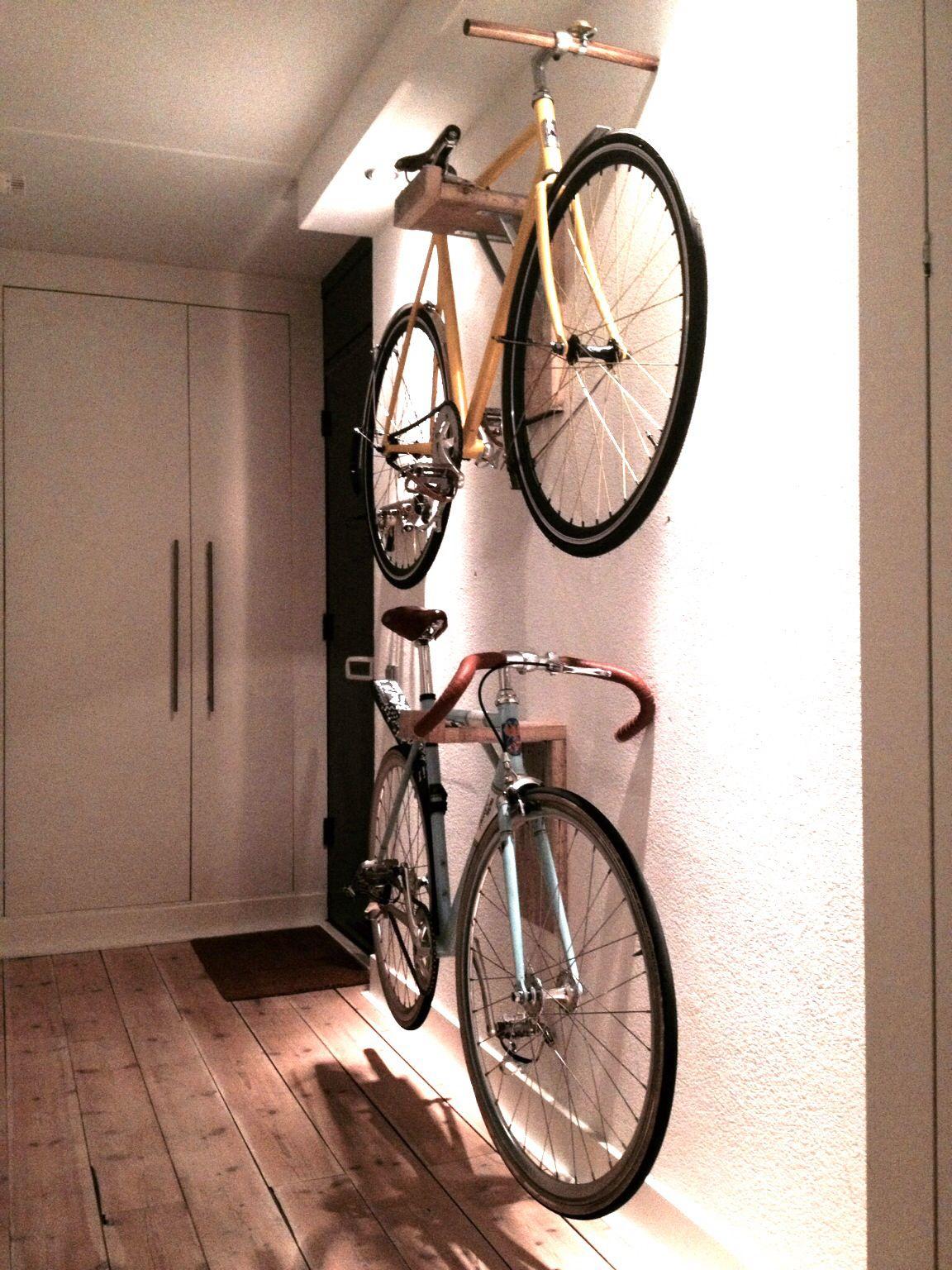 Hand Made Wooden Bike Racks Just Perfect Bike Storage Apartment Bike Rack Wall Bike Room