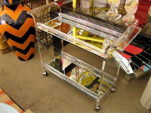 Lucite bar cart = love.
