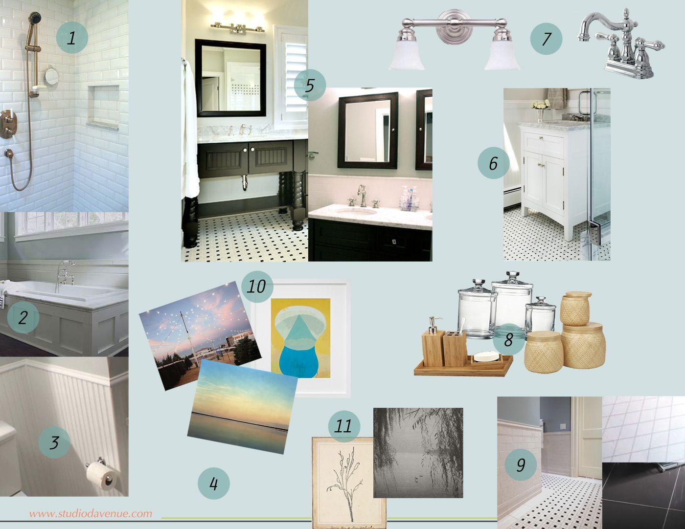 Mood board bathroom update design studio davenue for Bathroom design board