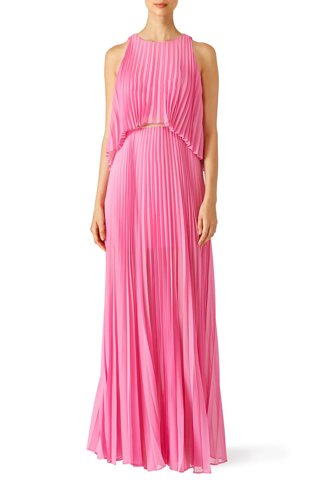 Pink Shaina Pleated Gown | Gowns, Red carpet and Designers