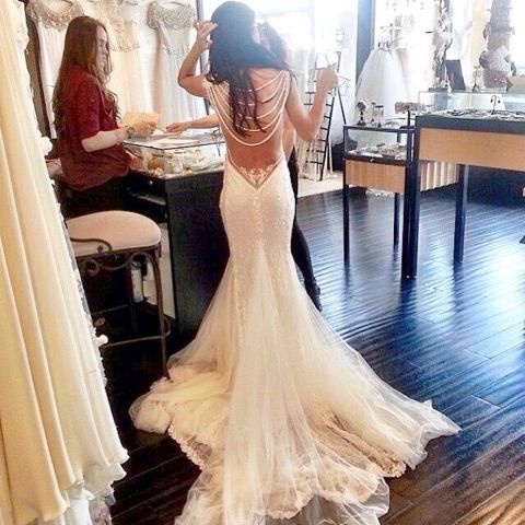 Back of this dress is gorgeous!