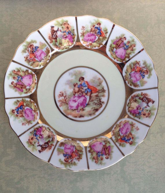Vintage Jkw Decor Carlsbad Bavaria Plate Made In Western Germany