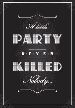 Theme Name Gatsby Party Invitations 1920 Theme Party