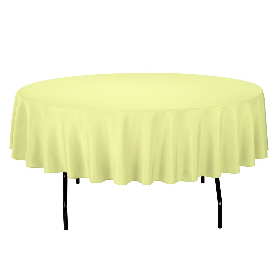 90 in. Round Polyester Tablecloth Tea Green