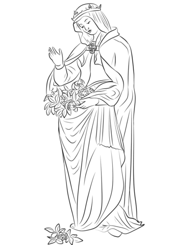 21++ Saint elizabeth of hungary coloring page HD