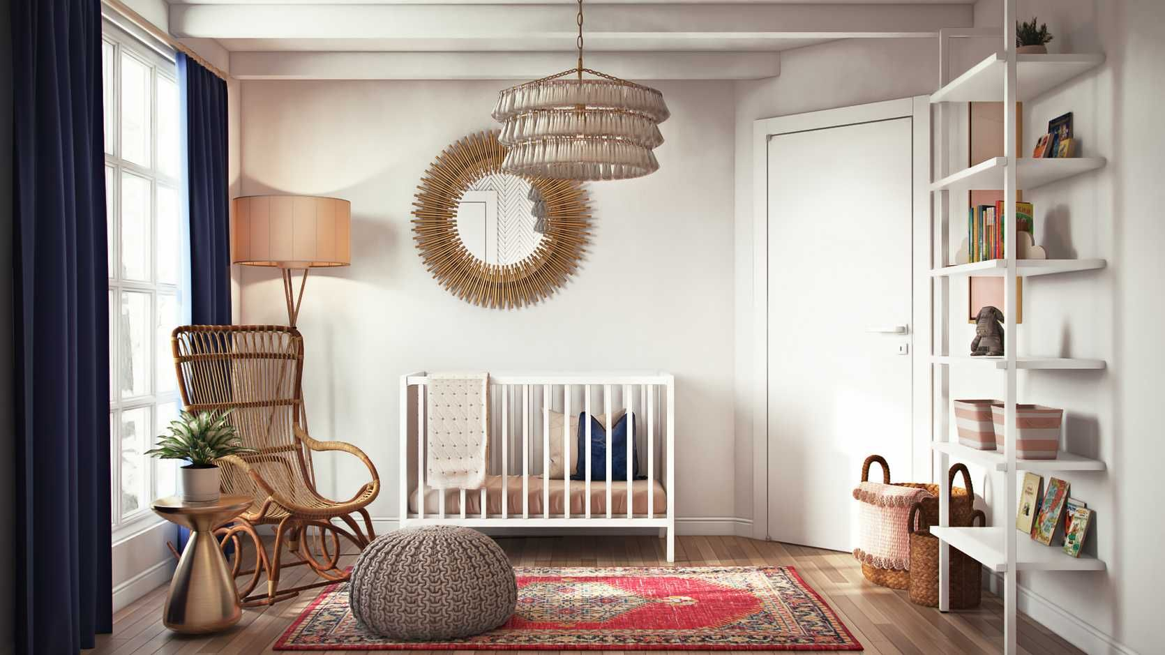 Eclectic, Midcentury Modern Nursery Design by Havenly ...